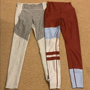 LOT OF 2! OUTDOOR VOICES + ALO YOGA LEGGINGS M